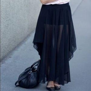Zara -Chiffon Black Maxi.